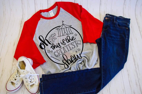 The Greatest Showman Baseball Tee - Ellie + Mae