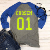Green Alien Baseball Tee - Ellie + Mae