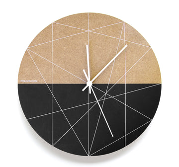 White Lines Wall Clock - KNUS