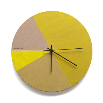 Yellow Tones Wall Clock - KNUS