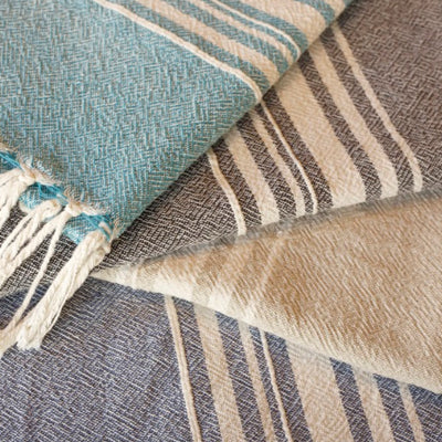 African Contemporary Towel Indigo
