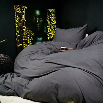 Charcoal T-shirt Cotton Duvet Cover