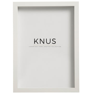 White Shadow Box Frame - KNUS