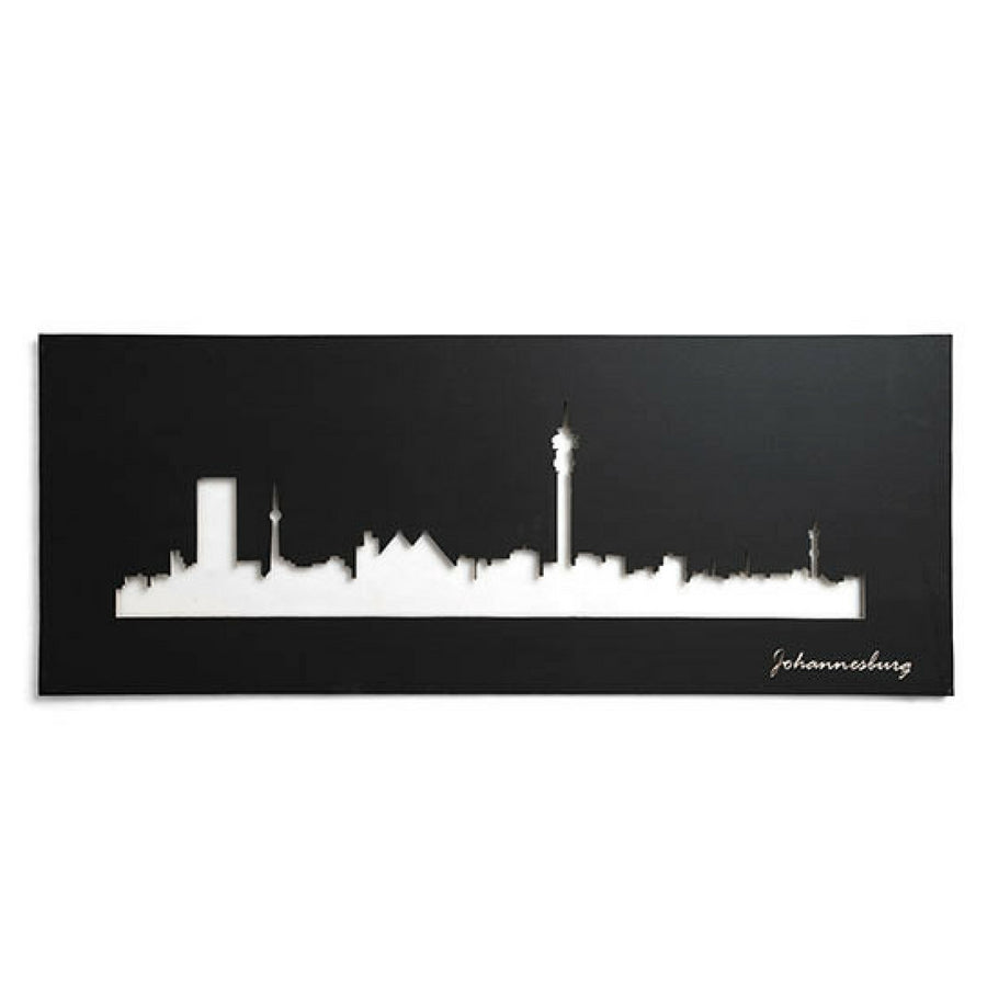 Joburg Skyline Black Wall Art - KNUS