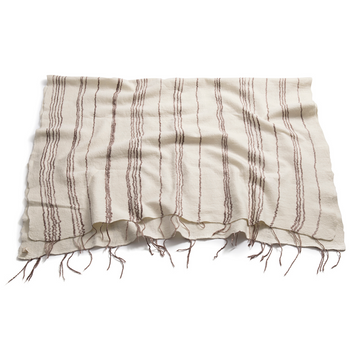 Taupe Fine Line Throw - KNUS