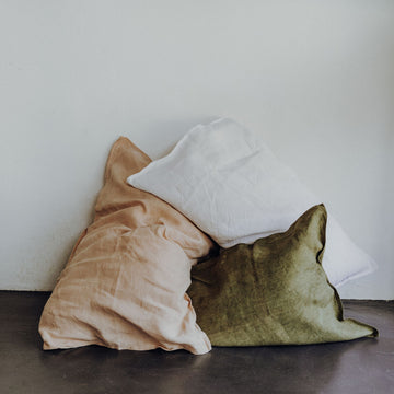 Pecan Nut Pink Beau Linen Pillow Cases - KNUS