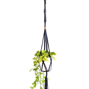 Copper Twisted Square Macrame Plant Hanger - KNUS