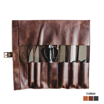 Leather Knife Roll Bag - KNUS