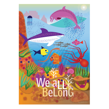 We All Belong | Undersea Mindfulness Print - KNUS