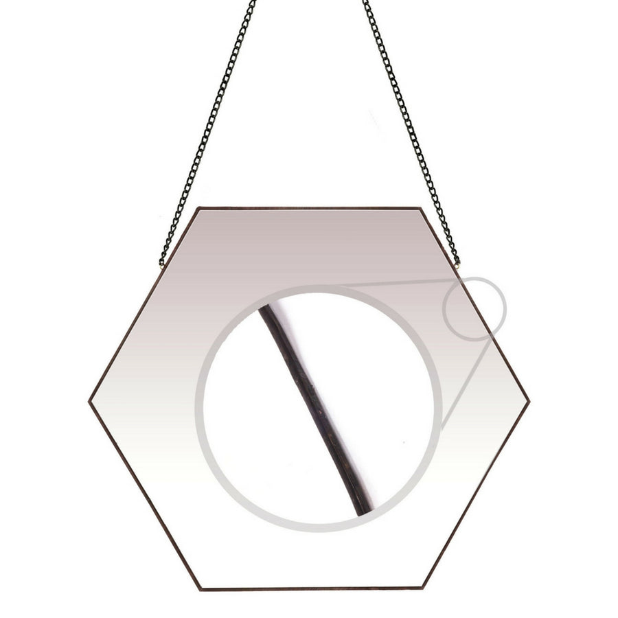 Classic Hexagon Wall Mirror