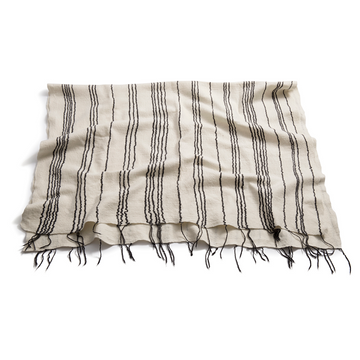 Charcoal Fine Line Merino Throw