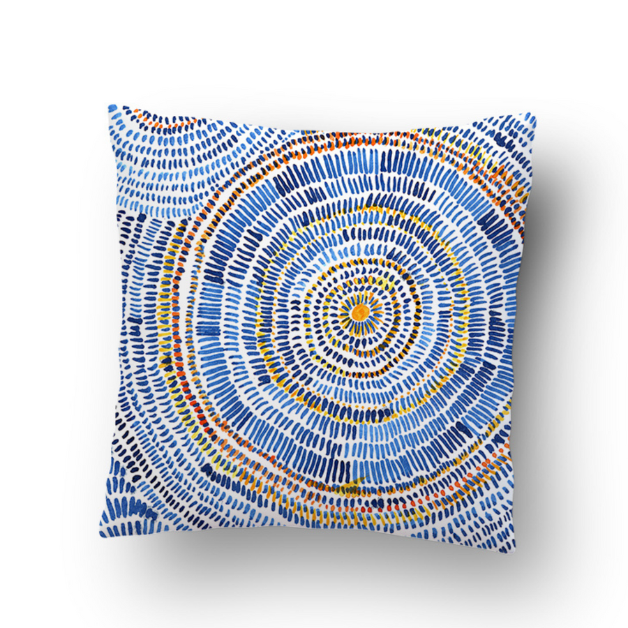 Circle Abstract Cushion Cover - KNUS
