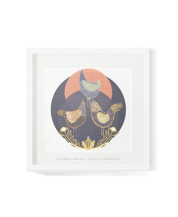 Three French Hens Art Print
