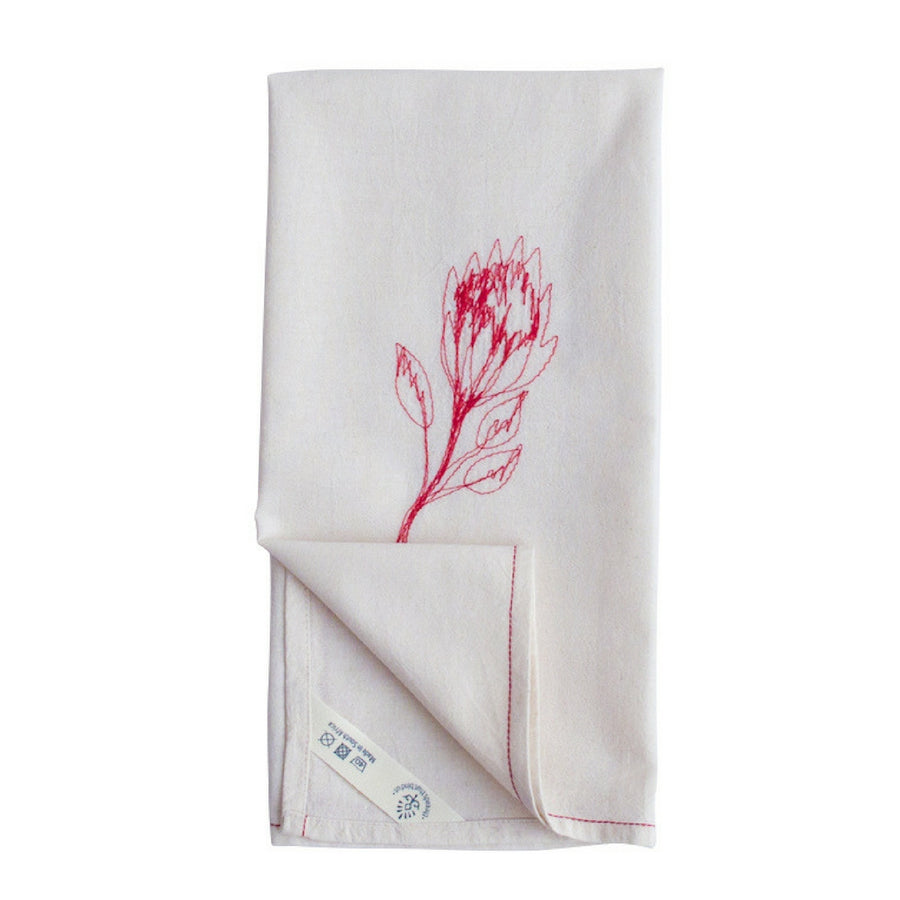 Red Protea Tea Towel - KNUS