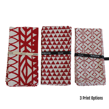 Red Printed Napkin Set - KNUS