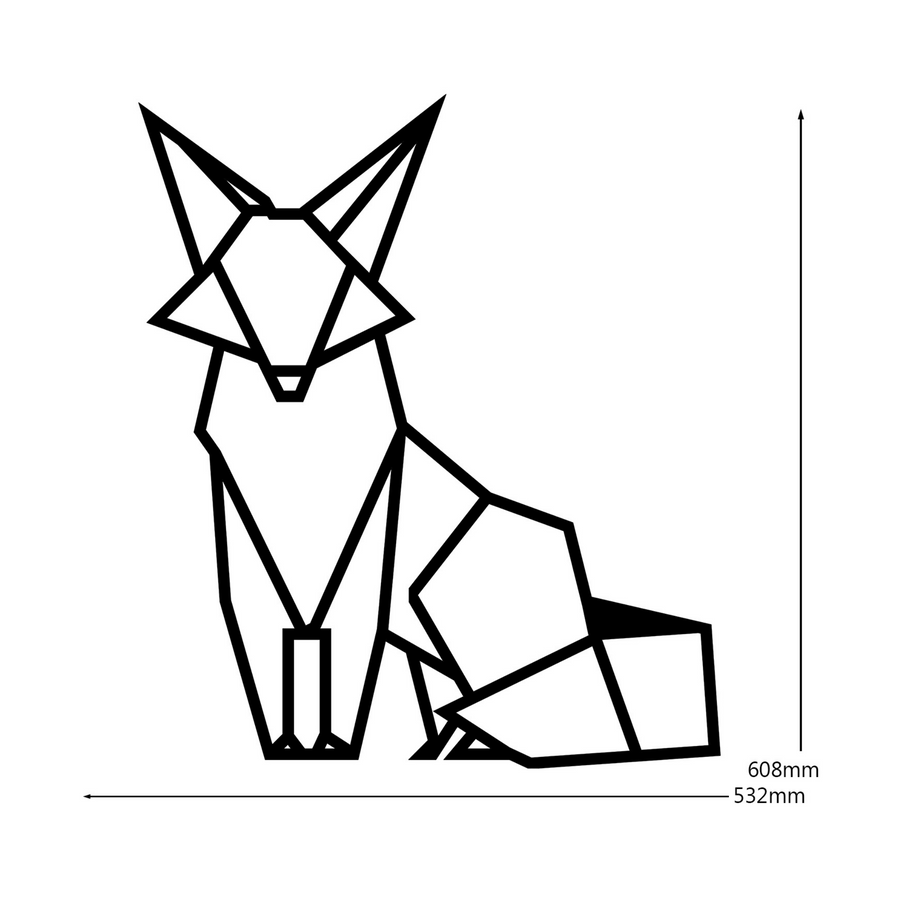 Geometric Fox Steel Wall Art - KNUS