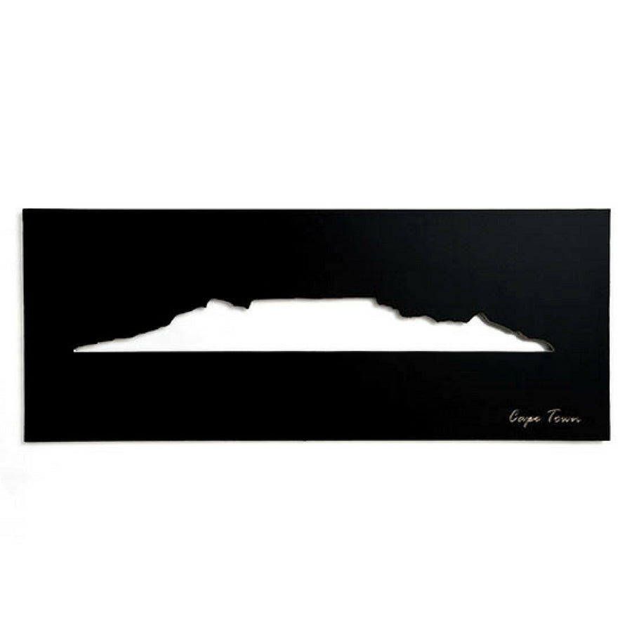 Cape Town Skyline Black Wall Art - KNUS