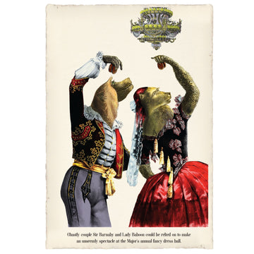 Sir Barnaby and Lady Baboon Art Print | KNUS
