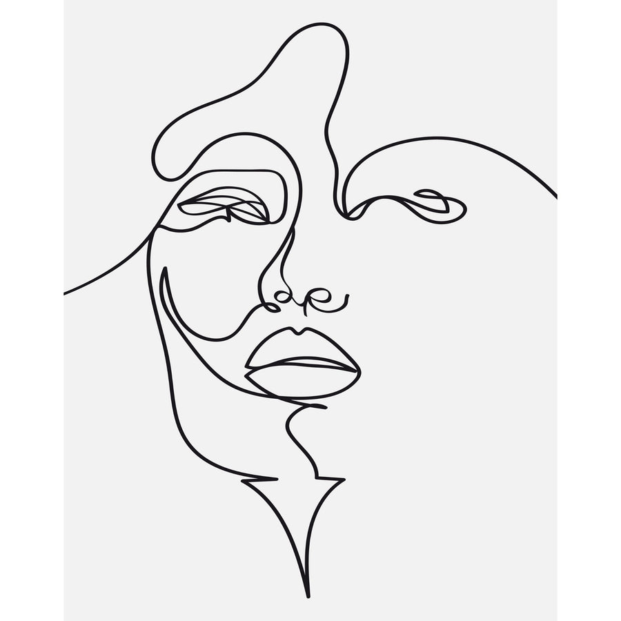 Face Line Drawing Art Print - KNUS