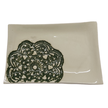 Green Lace Biscuit Plate - KNUS