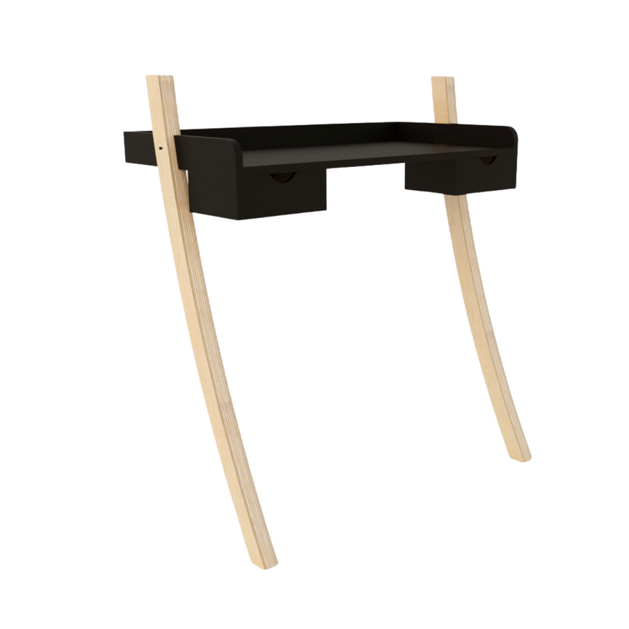 Leaning Desk Mini Drawers - Black - KNUS