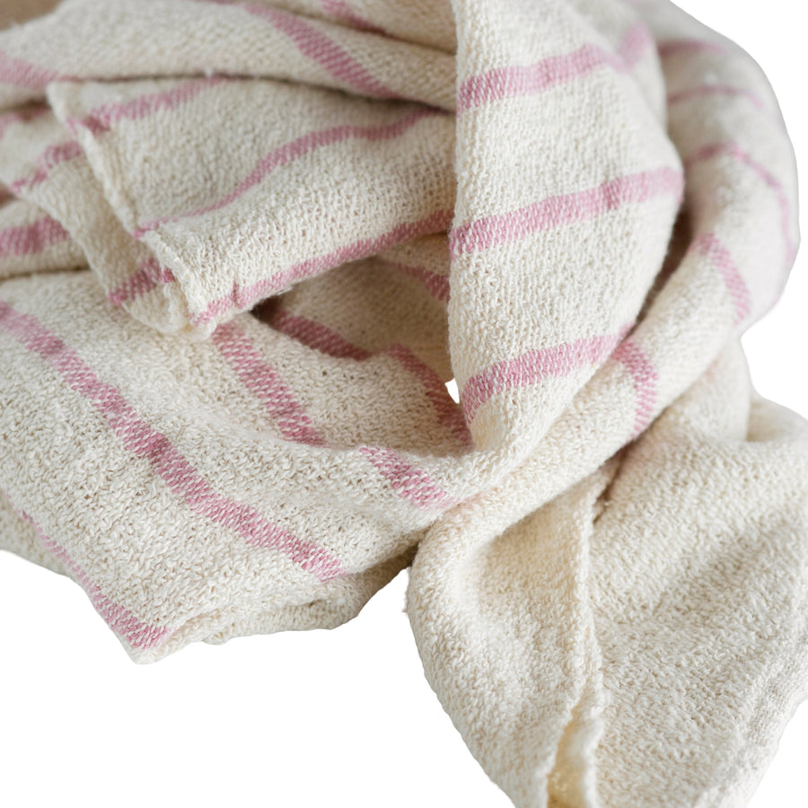 French Country Baby Blanket Pink Stripe - KNUS