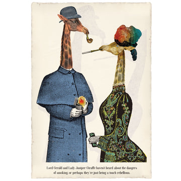 Lord Gerald and Lady Juniper Giraffe Art Print | KNUS