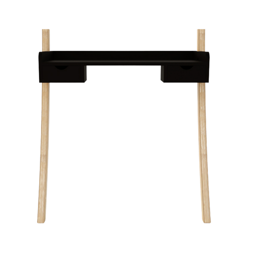 Leaning Desk Mini Drawers - Black