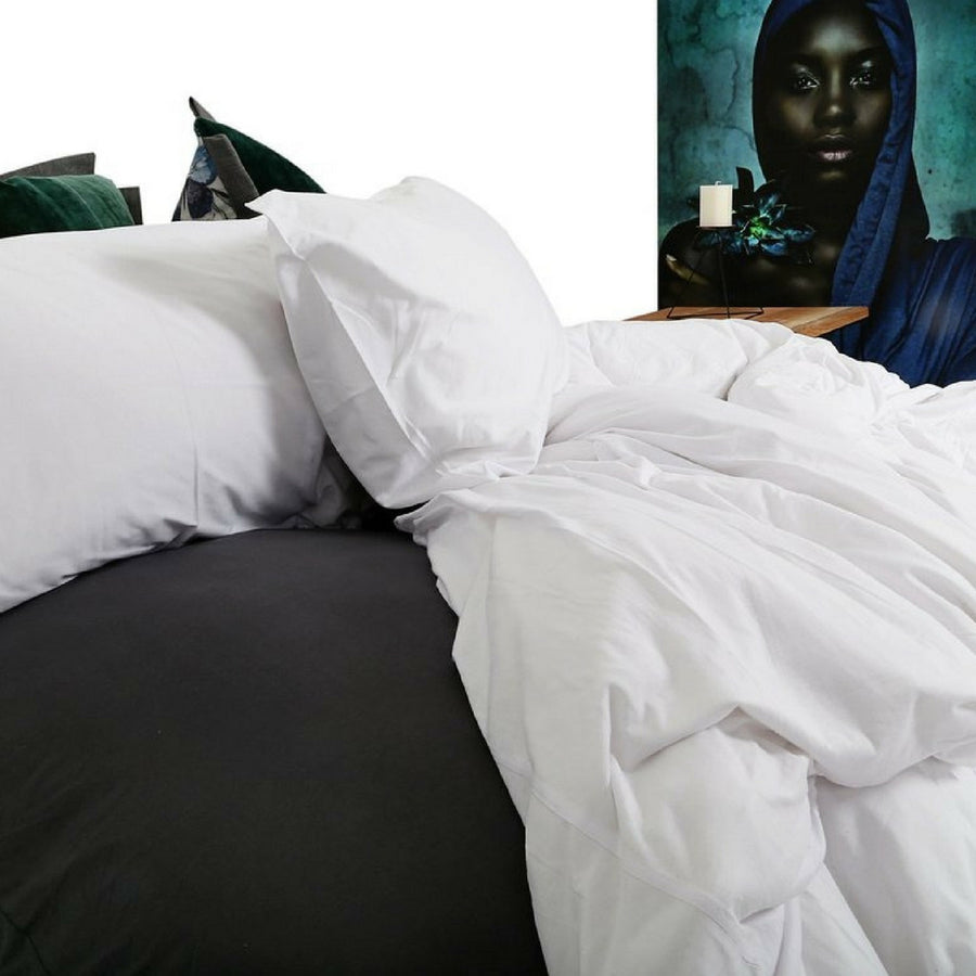 Scandinavian White T-shirt Cotton Duvet Cover