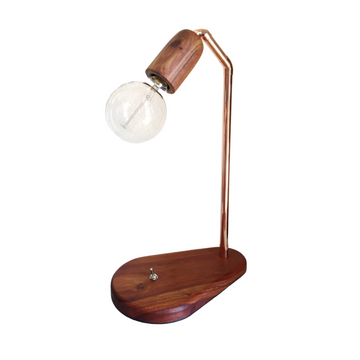 Teardrop Table Lamp with Kiaat Fitting - KNUS