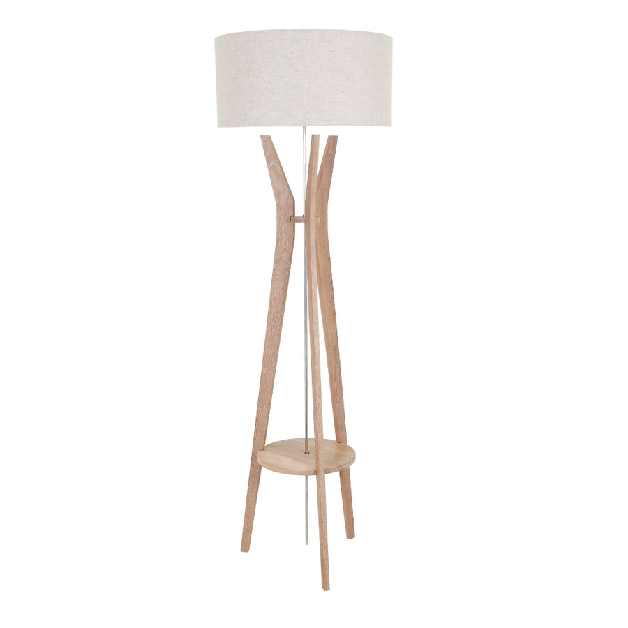 Dwell Solid Oak Floor Lamp - KNUS