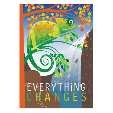 Everything Changes | Chameleon Mindfulness Print - KNUS