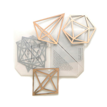 Himmeli Coasters Set of 3 - Rose Gold