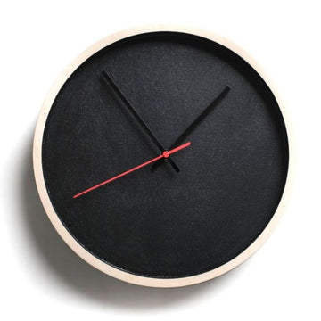 Black Deep Frame Round Clock - KNUS