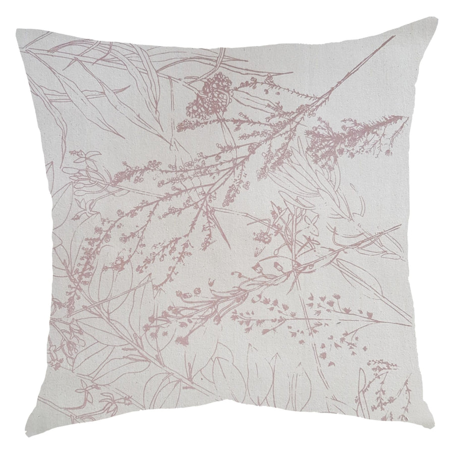 Blush Forage Print on Natural Scatter Cushion - KNUS