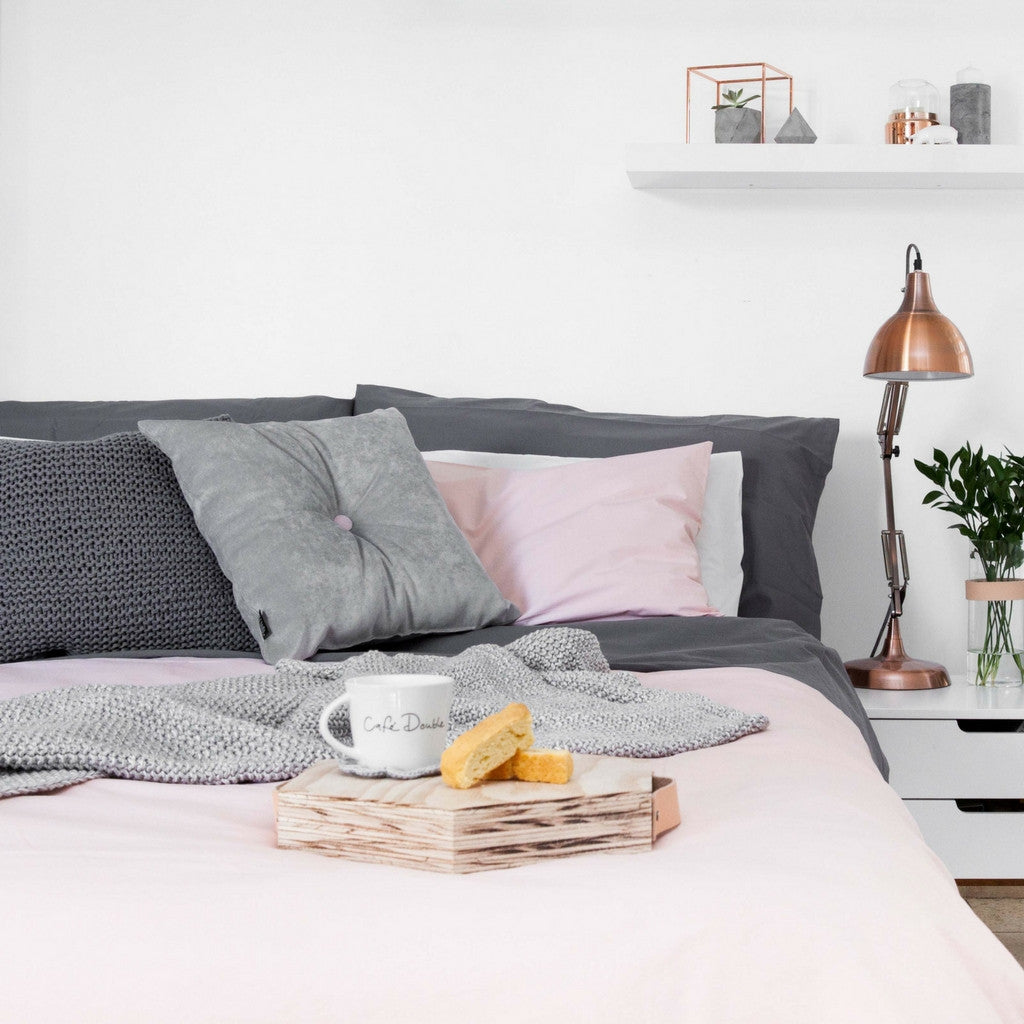 Stone Washed Blush Duvet Cover