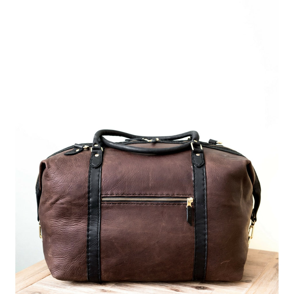 The Hand-stitched Two Tone Duffle Bag
