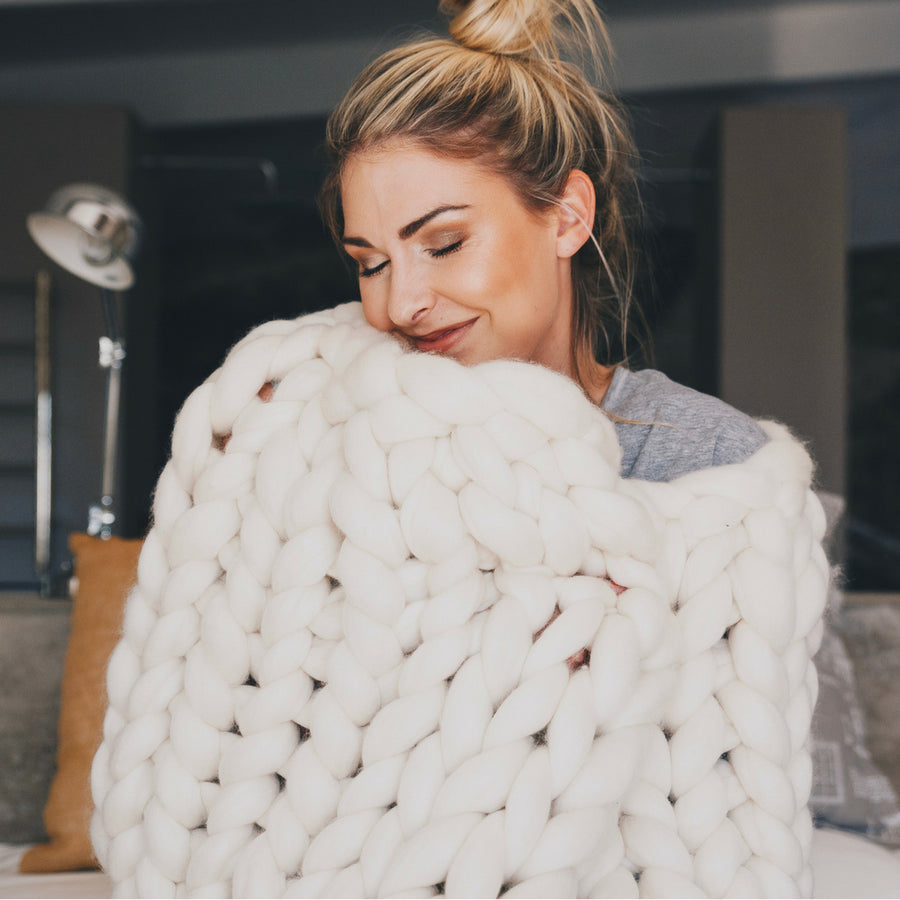 Natural 100% Merino Wool Blanket