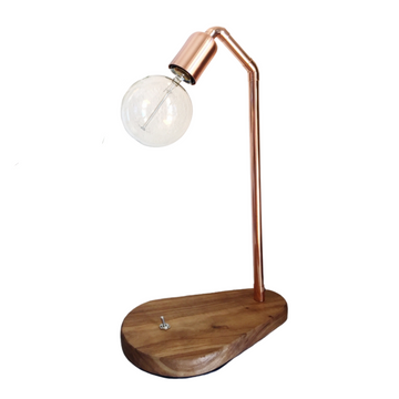 Teardrop Wood Base Table Lamp - KNUS