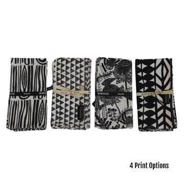 Charcoal Printed Napkin Set - KNUS