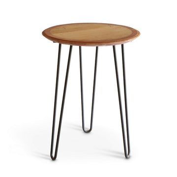 Hairpin Oak Cafe Table