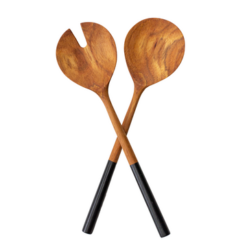 Wooden Salad Servers - KNUS