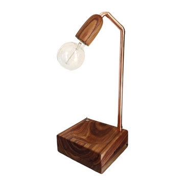 Wood Cup Bowl Table Lamp - KNUS