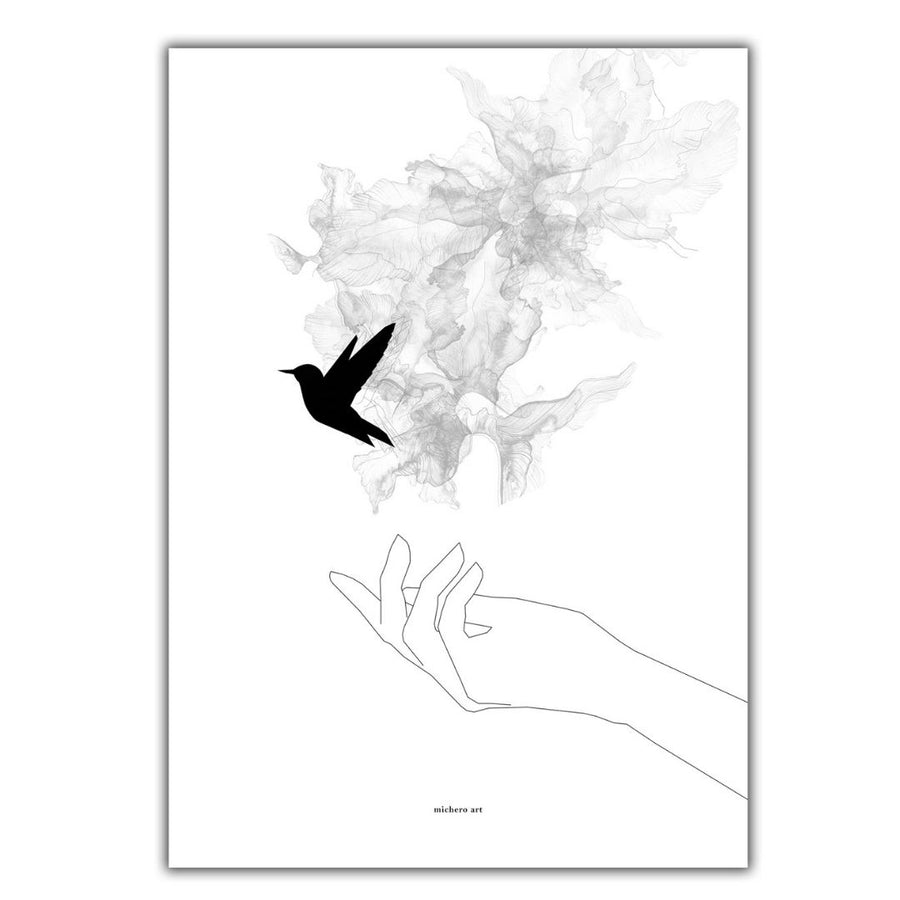 Hand & Bird Art Print - KNUS