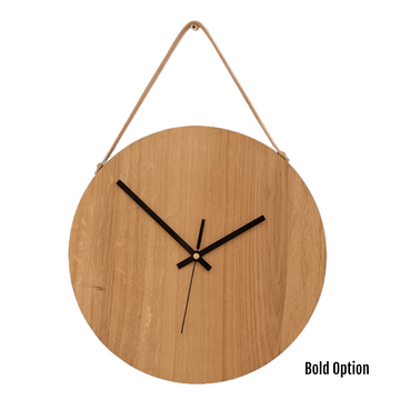 Magna Wall Clock in Oak - KNUS