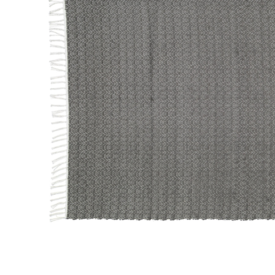 Dhurrie Twill Charcoal Mat