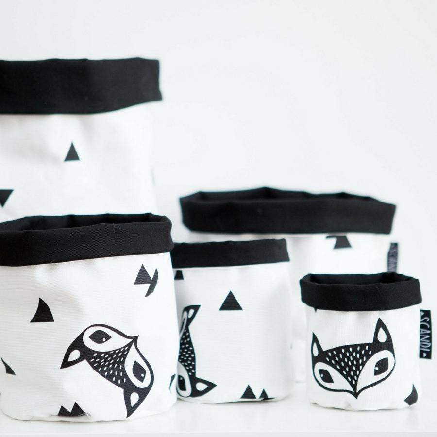 Fox & Triangle Fabric Basket