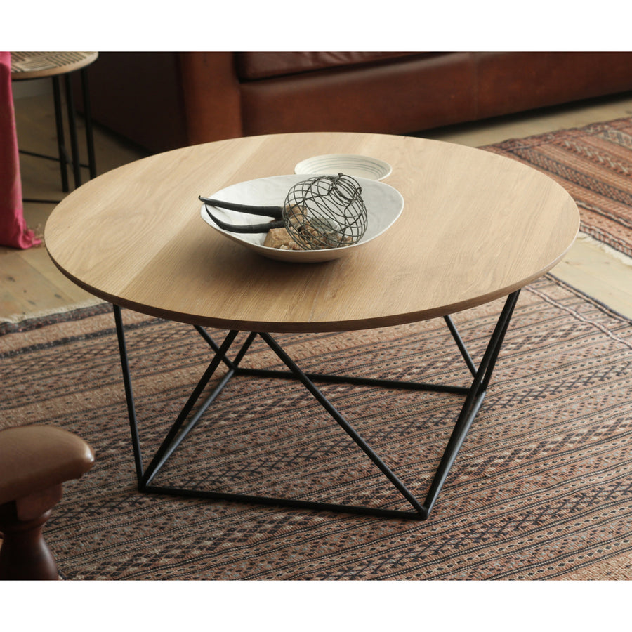 Oak Geo Coffee Table - KNUS