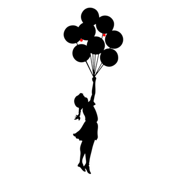 Balloon Girl Steel Wall Art - KNUS