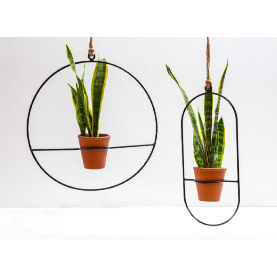 Round Hoop Hanging Pot Plant Holder
